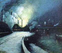 Escena industrial en Pittsburgh, Aaron Harry Gorson, 1881.