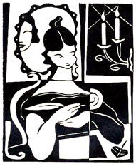 Linograbado del artista ruso L.P. Lapin, 1933.